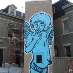Massive stencil work from Minneapolis by Broken Crow.