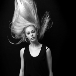 Beautiful stills of hair in motion by London based photographer Lynton Pepper.