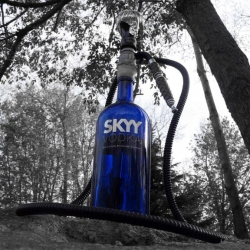 Tired of taking your hookahs to parties. Now you can make one on the spot with the Hobo Hookah.