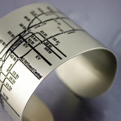 The NYC Metro Cuff by Tiffany Burnett is really cool.