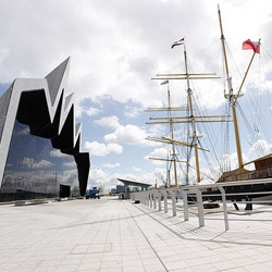 Here is the first look at Zaha Hadid Architects latest project, Glasgow Riverside Museum of Transport in Scotland. Slated to officially open later this week the museum has 7,000 sqm of exhibition area.