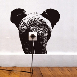 "Animals painted on walls and wall sockets - all this is ""Vinyl"", a project by French designer team ""Domestic"""