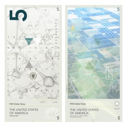 Visually stunning re-imagining of the USA dollar bills from Travis Purrington.