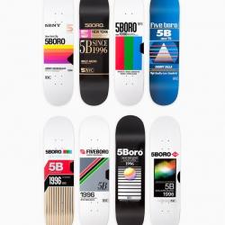 VHS inspired skateboard decks by New York brand5BORO, designed by Mark Nardelli, Matthew Tapia, Max Vogel Razauno.