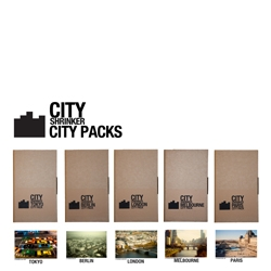 Veteran tilt-shifter CITYSHRINKER's worldwide limited CITY PACKs featuring Melbourne, Paris, Tokyo, London and Berlin! Ultra cute!