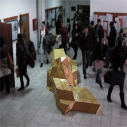 ModelArt Studio in collaboration with the Faculty of Technical Sciences in Novi Sad, Serbia who completed the project 'Origami Forum'.