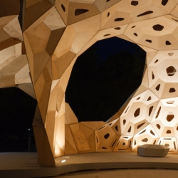 The Institute for Computer-Based Design and the Institute for Structural Engineering and Structural Design, University of Stuttgart have collaborated to create this Research Pavilion - introducing biological patterns and formations into architecture.