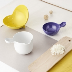 Danish designer Ole Jensen designed a collection of colorful kitchenware for Room Copenhagen.