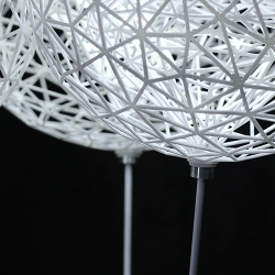 Canopy, lighting system incorporating complex 3D printed geometry and LED technology. It is designed and developed by Alex Buckman for his Industrial Design Masters Thesis at Victoria University, Wellington.