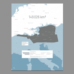 Based on official information, this data visualization is shifting the geographical area of the Deepwater Horizon oil spill and surrounding areas upon central Europe. Infographic by Moritz Resl.