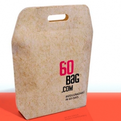 Finally an alternative to the tree based paper bag! The new stylish flax-viscose bag called 60Bags!