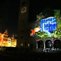 On Thursday,. May 20th, 2010, Samsung introduced a large-scale commercial 3D-Outdoor projection at the Beurs van Berlage in Amsterdam.