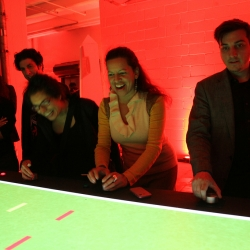 SuperUber brings Super Pong to the Victoria and Albert Museum, London.