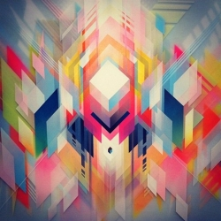 Stunning geometric artwork by Francesco Lo Castro.