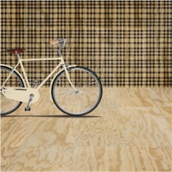 Durable porcelain tiles that look like plywood!