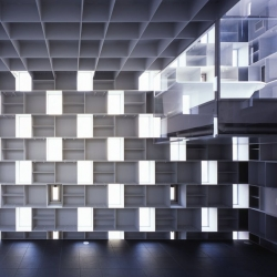 Cell Brick House in Japan combines void masonry techniques with a translucent skin to stunning visual effect.