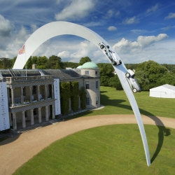 Gerry Judah's sculpture for Mercedes Benz at the Goodwood Festival of Speed 2014