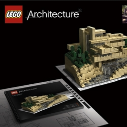 Frank Lloyd Wright Lego Sets! Part of the launch of the new Lego Architecture brand. So exciting.