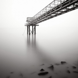 French photographer Michel Rajkovic has thing about fog and pathways.