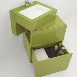 Beautiful Corian bathroom furniture designed by Francesc Rifé.