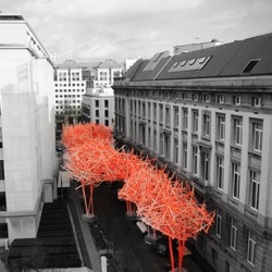 """The Sequence"" street installation for the flemish parliament in Belgium designed by Arne Quinze."