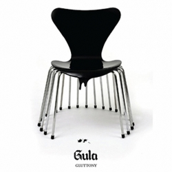 "7 chairs inspired from Deadly Sins. ""Saligia"" project designed by Johnny Slogan alias Thomas Von Staffeldt."