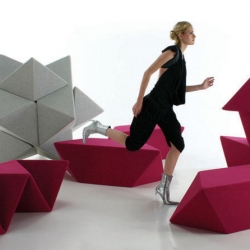 """Stop playing with yourself"" furniture is based on chinese puzzle. So clever !"