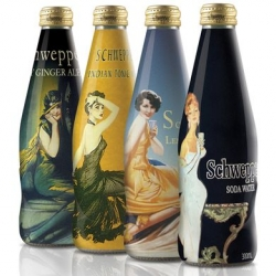 DiDonato created this series of vintage themed bottles inspired by the history of the Schweppes brand.