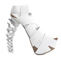 Amazing DSQUARED2 skeletal stilettos - a serious object of desire