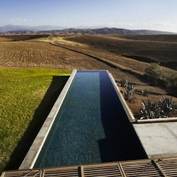 The Villa K pool in Tagadert, Morocco, designed by Studio KO.