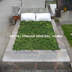 Rest in Peace... a new way to mark the eternal slumber - a real, actual grave conceived and made by designer Robert Stadler for his father.