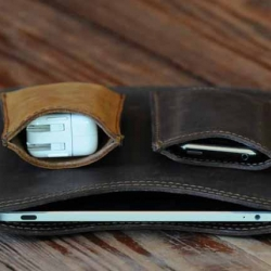 Gorgeous peripheral pouches in high grade, made-to-be-beaten-up leather from Saddleback Leather Co.