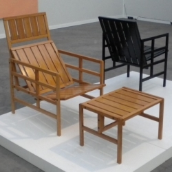 Bamboo chairs by Yrjö Kukkapuro and Fang Hai. A light and elegant design, between tradition and Scandinavian modernity.