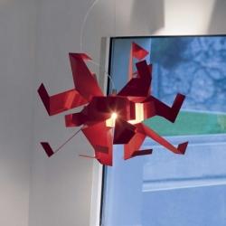 Glow pendant lamp, a strange aluminium lamp by Enrico Franzolini and Vicente Garcia Jimenez for italian brand Pallucco.