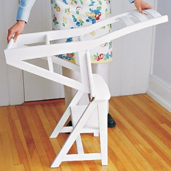 Awesome traditional looking chair that transforms into a step ladder