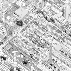 Artist and architect Li Han of Atelier 11 charts Beijing's changing urban landscapes through manically-detailed isonometric drawings.