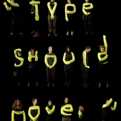 Type Should Move. Wearable lettering by Amadine Alessandra. A typographic performance.