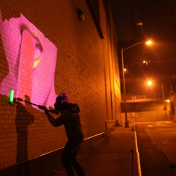 Sweat Shoppe is a new multimedia performance collaboration that has figured out how to paint video on the walls.