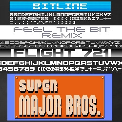 Miffies Font is an obscure little Japanese website featuring 50 fonts inspired by 8-bit videogames with very little in the way of explanation.