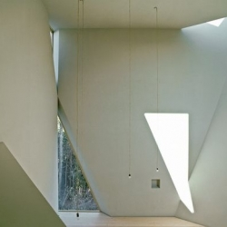 Austrian architects Dieter Henke and Marta Schreieck designed St. Gabriel Monastery. Some bright and peaceful spaces.