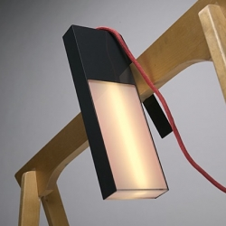 Finnish designer Marko Nenonen reinterprets a common building lamp by creating Hook, a contemporary hanging lamp concept which can used freestanding or be hung or suspended.