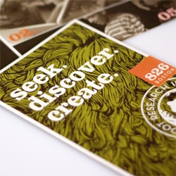 A sneak peek of the new identity and collateral system for 826 Boston and The Bigfoot Institute, designed by Continuum.