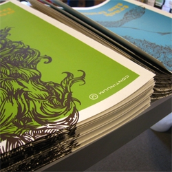 Take a peek at the production of the new line of posters for 826 Boston—designed and hand-silkscreened by Continuum.