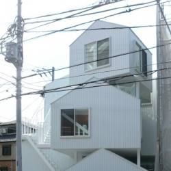 Tokyo Apartment by japanese architect Sou Fujimoto. An urban housing made of stacked small houses. Featured as work in progress previously as #26713.