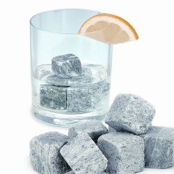 Nordic Rock  mined from ancient Swedish pollution-free base rock is the purest way of cooling your drink - literally 'on the rocks'. Stone does not melt, which means no unclean water in your glass. Reusable and very eco-friendly.