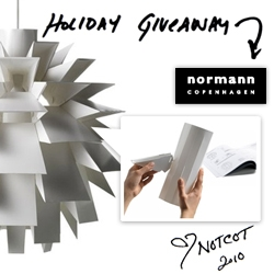 NOTCOT Holiday Giveaway #7: Normann Copenhagen ~ gorgeous lamps to light up your life!
