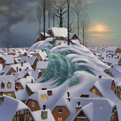 The surreal world of  Jacek Yerka made me smile.