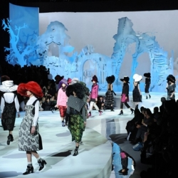 Marc Jacobs looks to friend and sculptor Rachel Feinstein who designed 'broken castle' for his Fall/Winter 2012 Show.
