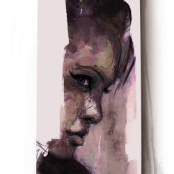 -the raw and unfinished quality of Florian Nicolle's artwork is just really attractive and beautiful, this series is realized  on skateboard.
