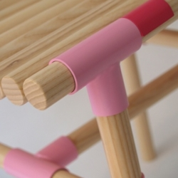 """Swedish designers Kisa Widén and Anna Irinarchos from WIS Design have designed """"Croquet"""". These furnitures are made of small wooden pieces and inspired by """"croquet"""" game."""